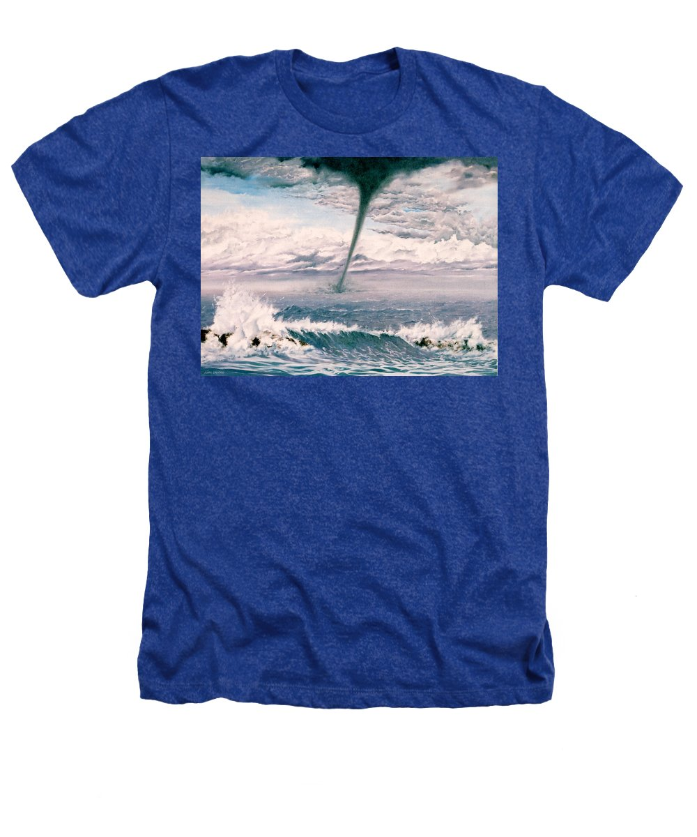 Seascape Heathers T-Shirt featuring the painting Twisted Nature by Mark Cawood
