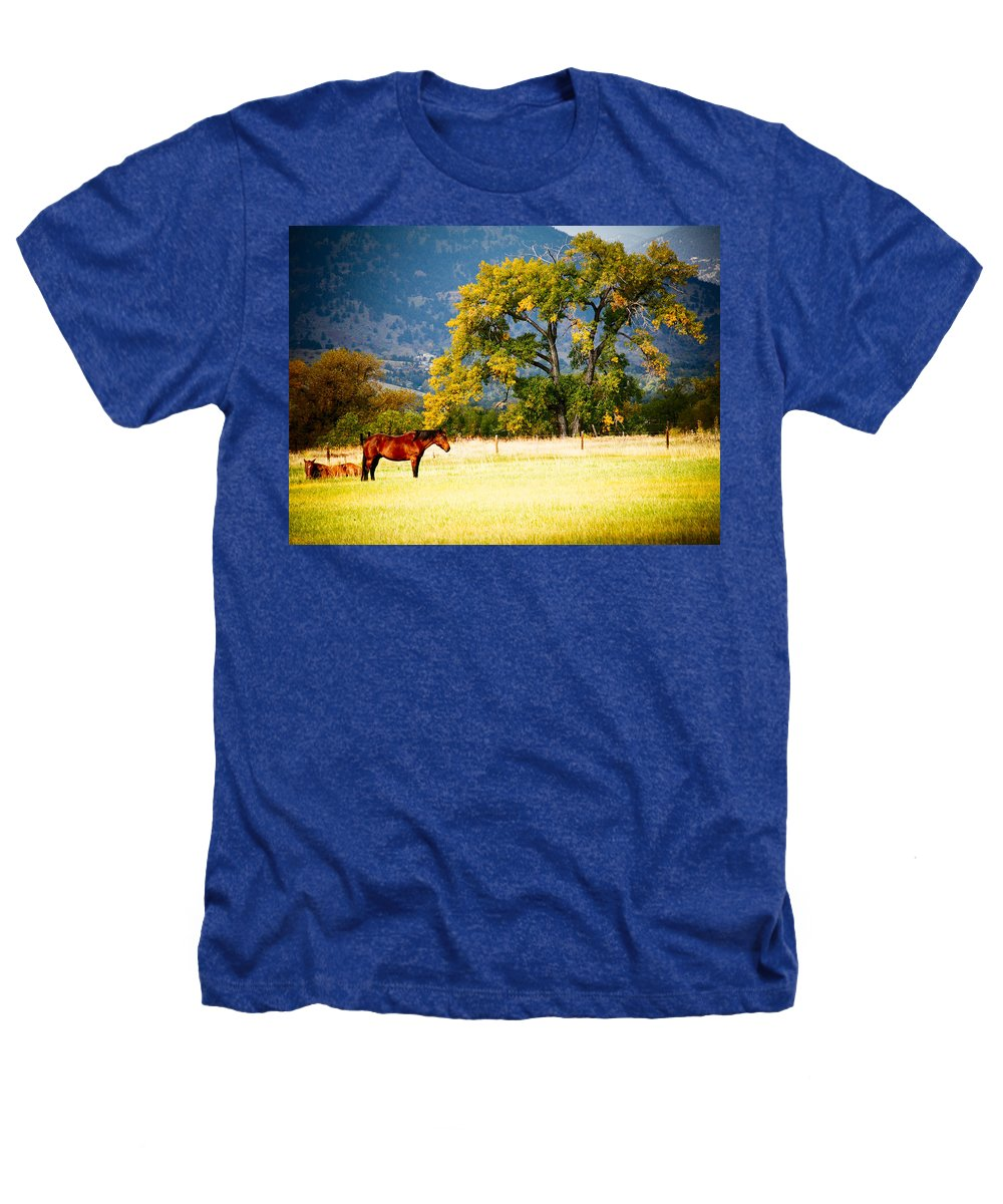 Animal Heathers T-Shirt featuring the photograph Two Horses by Marilyn Hunt