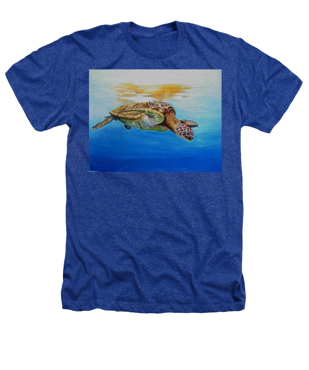 Wildlife Heathers T-Shirt featuring the painting Up For Some Rays by Ceci Watson