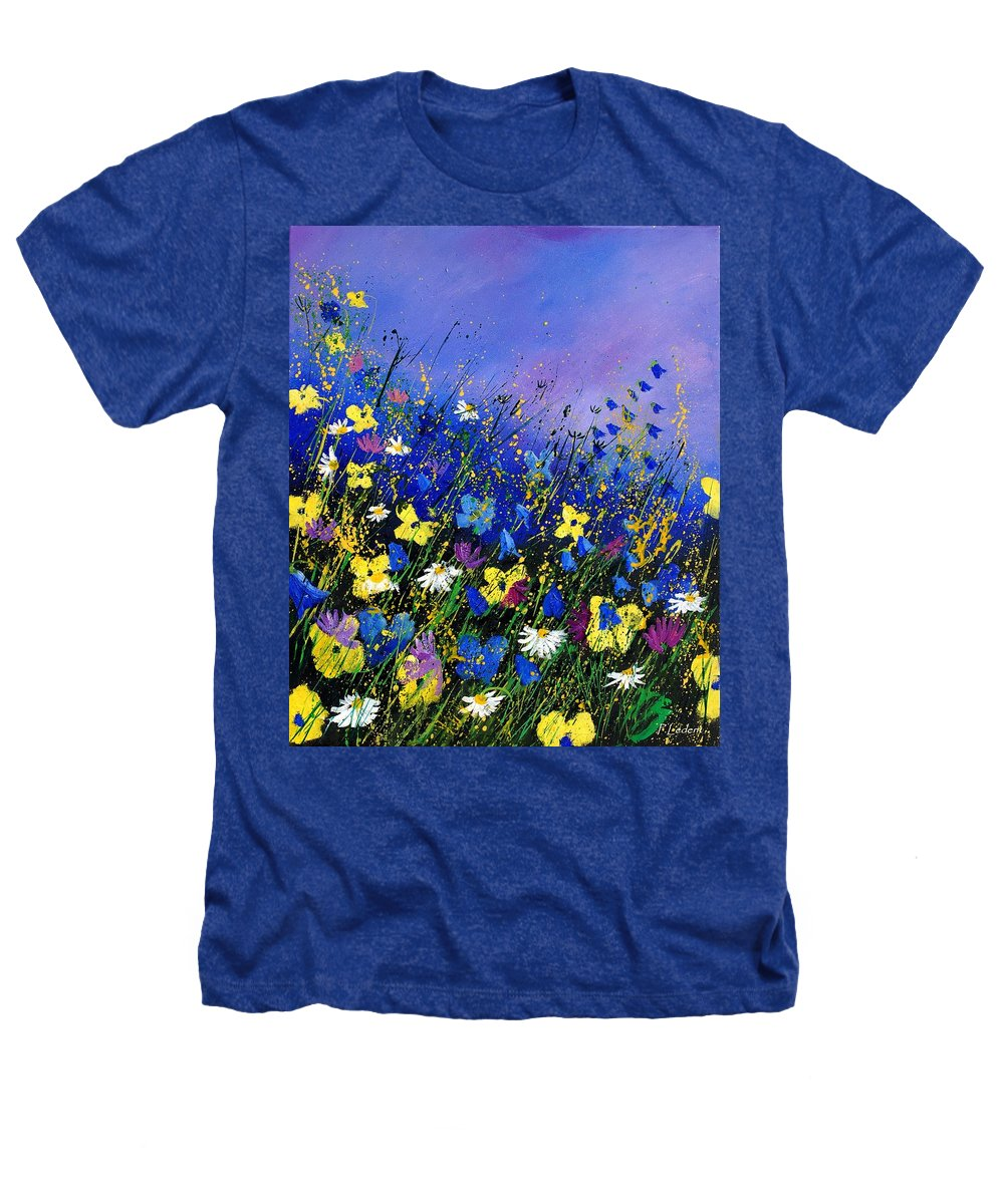 Flowers Heathers T-Shirt featuring the painting Wild Flowers 560908 by Pol Ledent