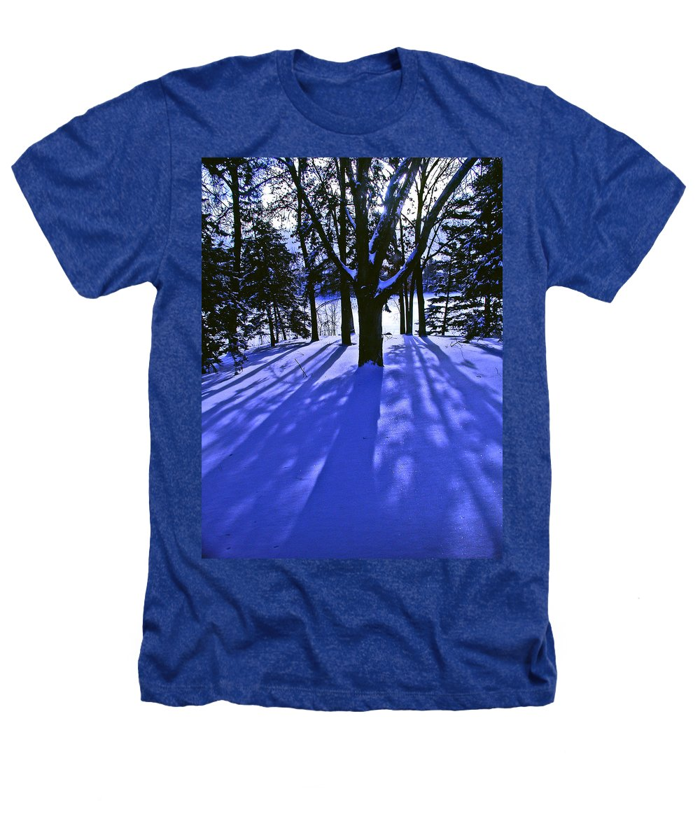 Landscape Heathers T-Shirt featuring the photograph Winter Shadows by Tom Reynen