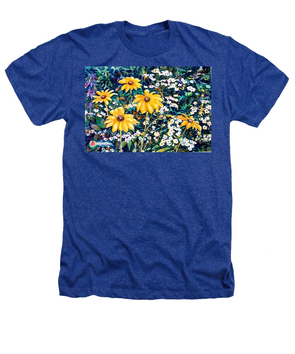 Daisies Heathers T-Shirt featuring the painting Yellow Daisies by Norma Boeckler