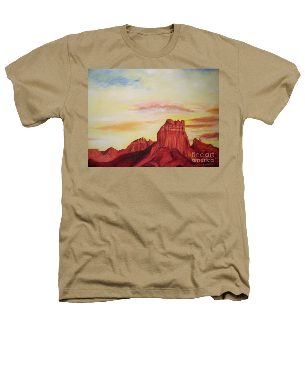 Western Heathers T-Shirt featuring the painting Sedona Az by Eric Schiabor