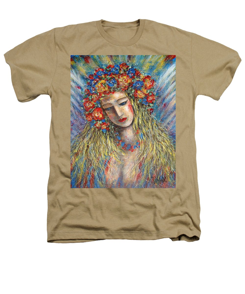 Painting Heathers T-Shirt featuring the painting The Loving Angel by Natalie Holland