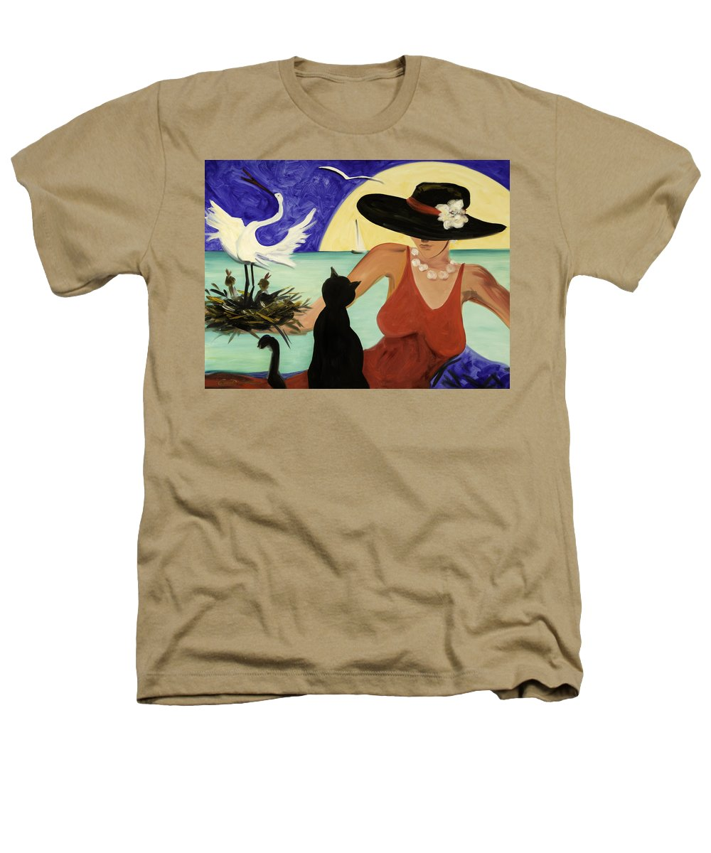 Colorful Art Heathers T-Shirt featuring the painting Living The Dream by Gina De Gorna