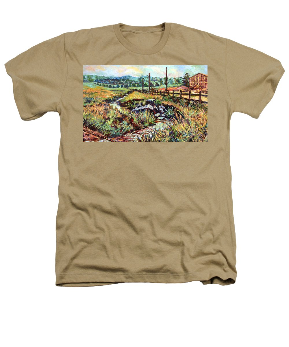 Landscape Paintings Heathers T-Shirt featuring the painting Stroubles Creek by Kendall Kessler