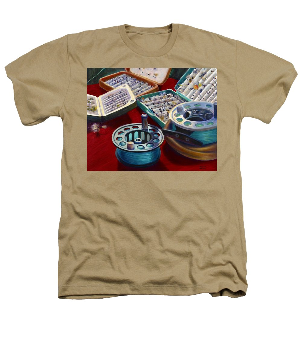 Still Life Heathers T-Shirt featuring the painting A Howard Runs Through It by Shannon Grissom