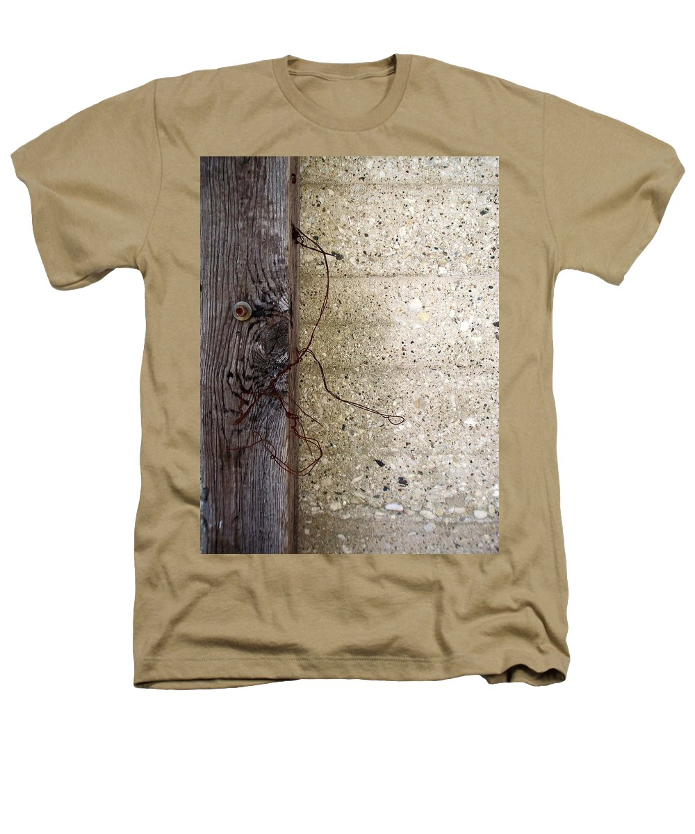 Industrial. Urban Heathers T-Shirt featuring the photograph Abstract Concrete 11 by Anita Burgermeister