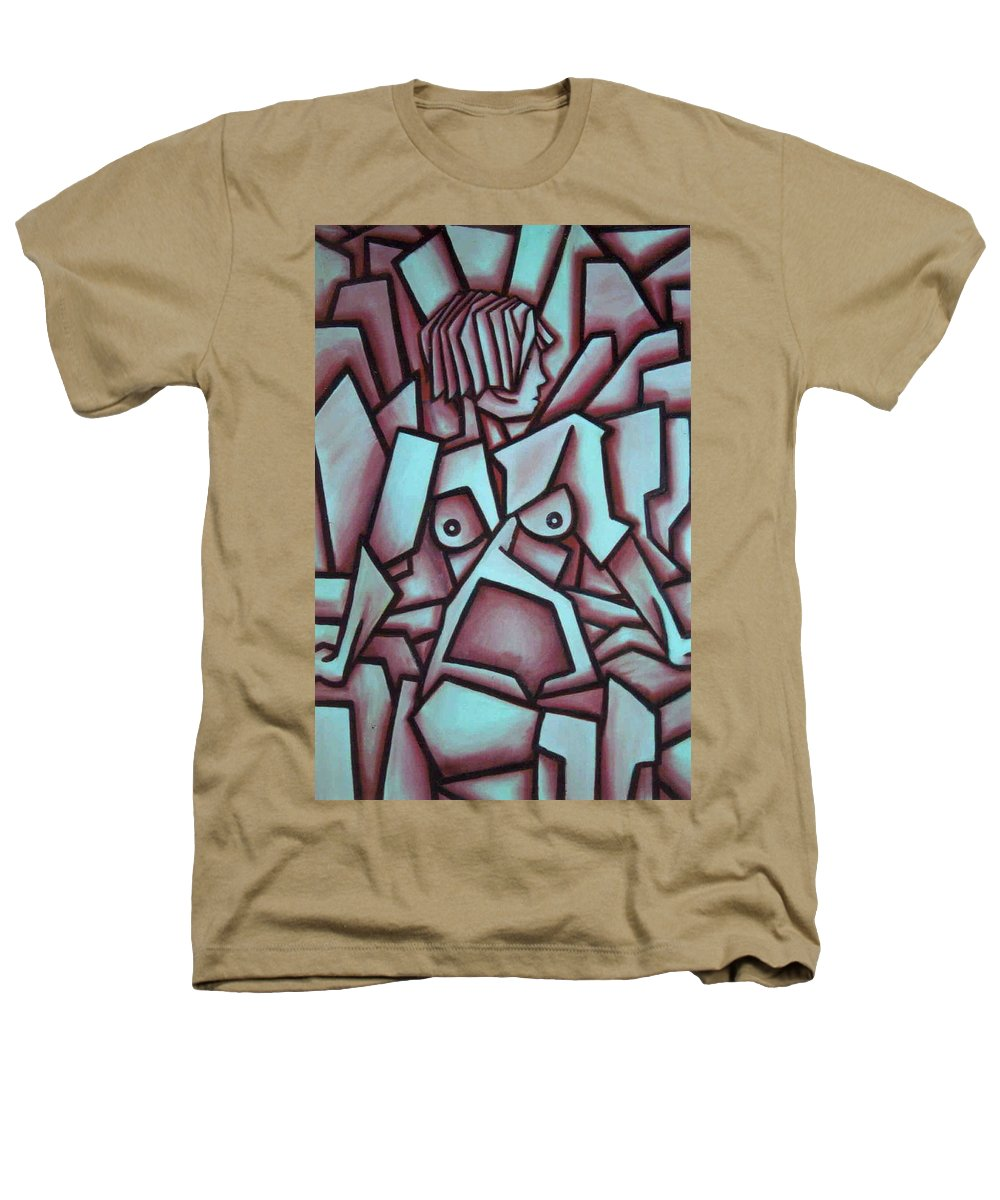 Abstact Heathers T-Shirt featuring the painting Abstract Girl by Thomas Valentine