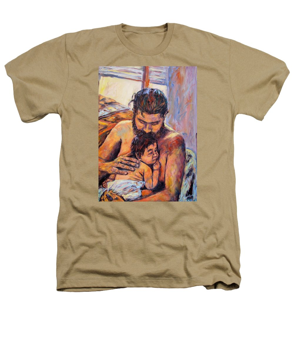 Kendall Kessler Heathers T-Shirt featuring the painting Alan And Clyde by Kendall Kessler