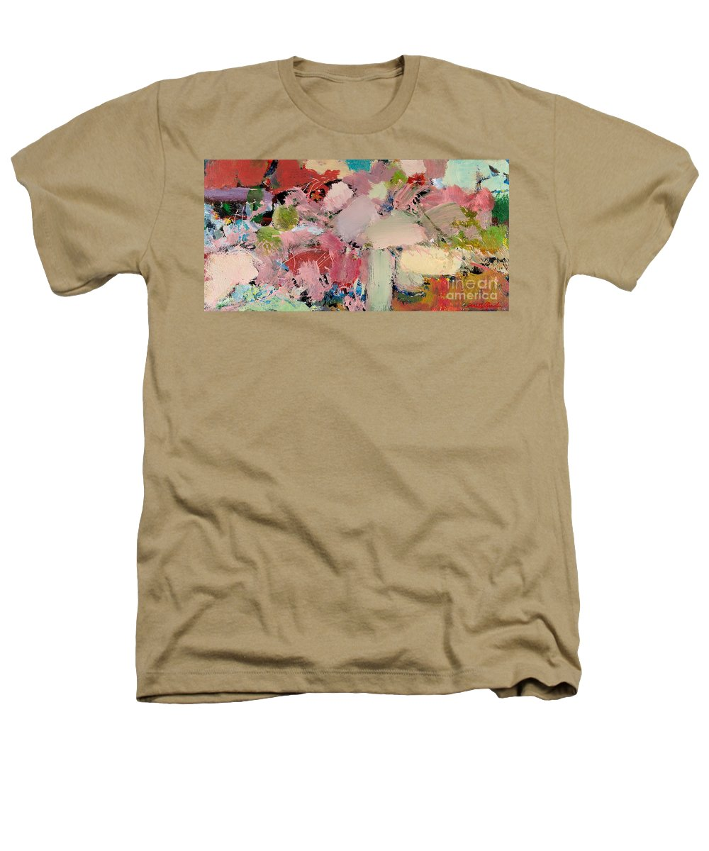 Landscape Heathers T-Shirt featuring the painting Azaleas by Allan P Friedlander