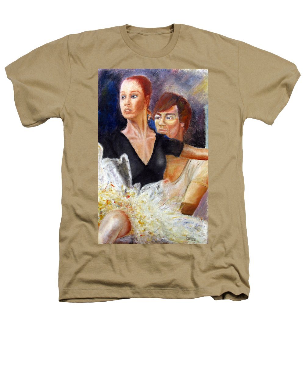 Ballet Heathers T-Shirt featuring the painting Ballet Dancers Rehearse For La Bayadere by Tom Conway