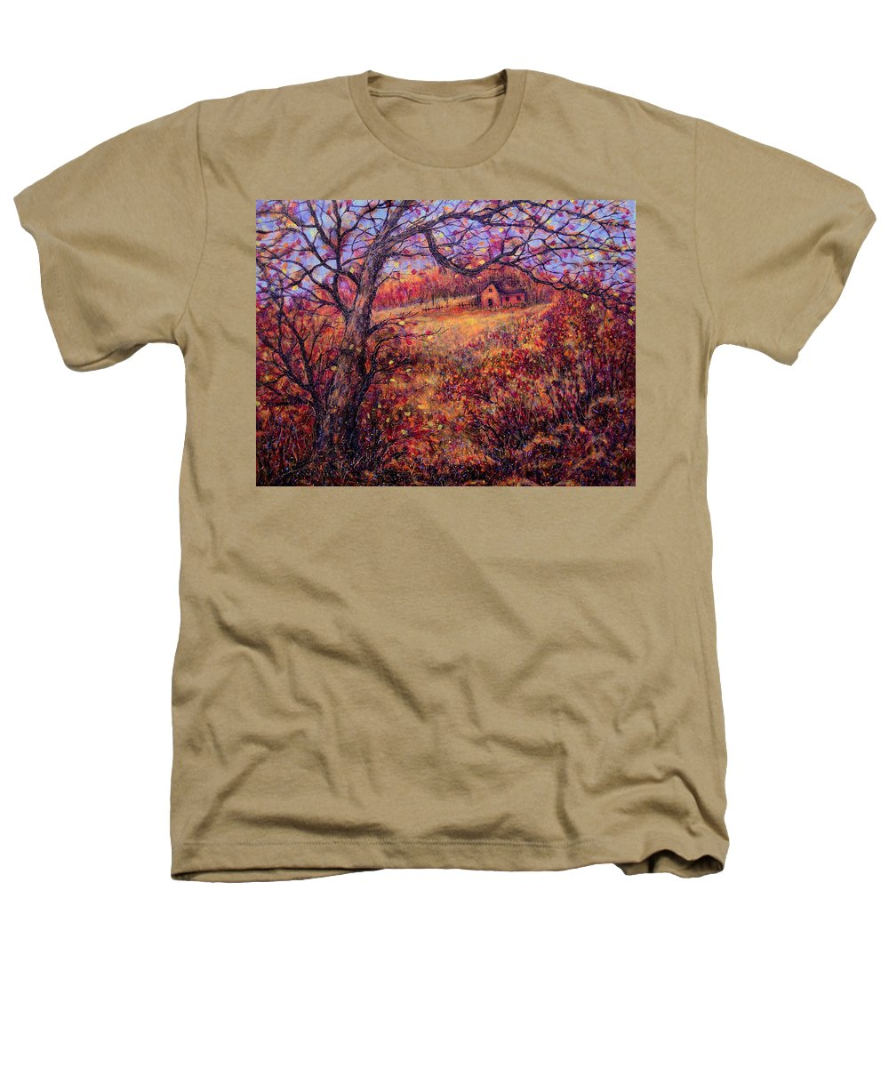 Autumn Heathers T-Shirt featuring the painting Beautiful Autumn by Natalie Holland