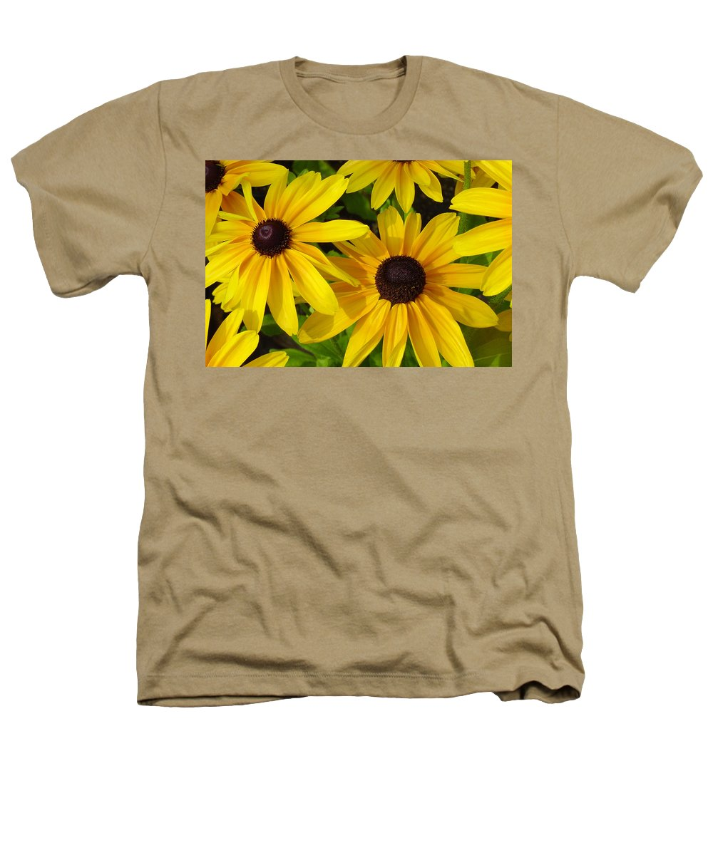 Black Eyed Susan Heathers T-Shirt featuring the photograph Black Eyed Susans by Suzanne Gaff
