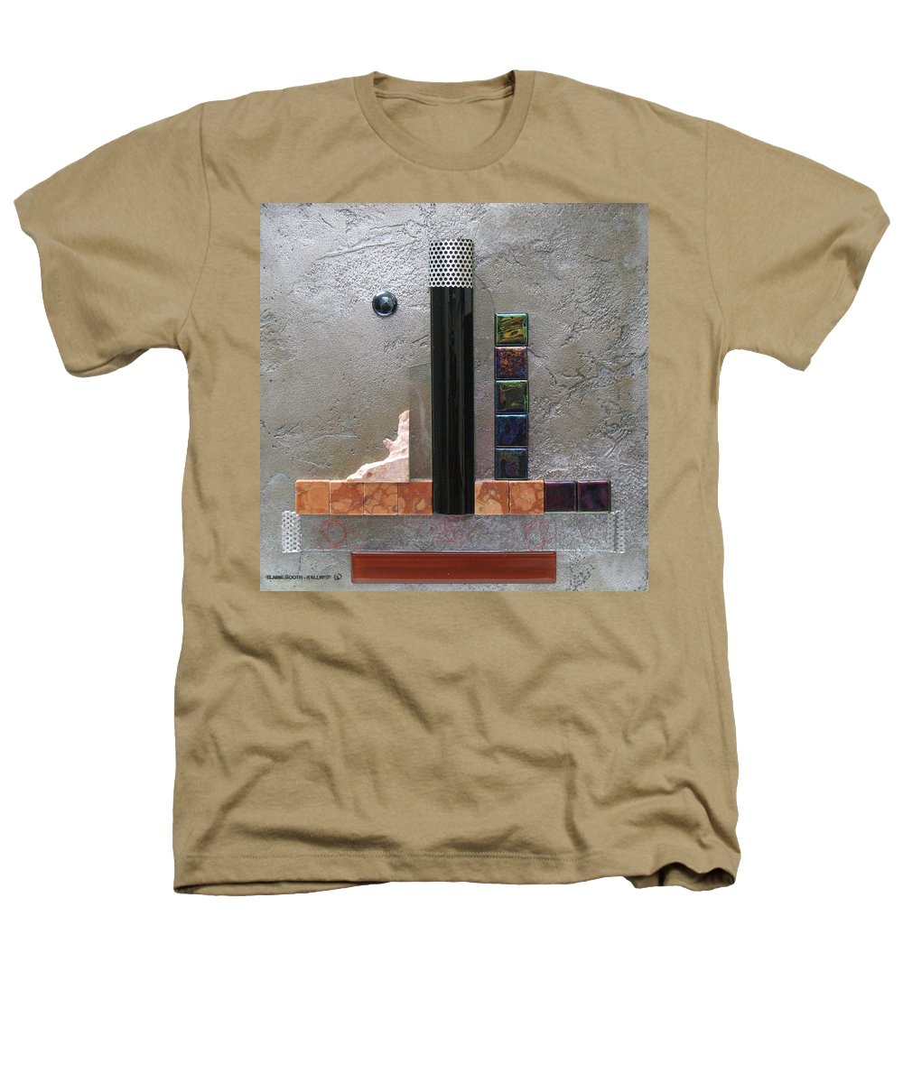 Assemblage Heathers T-Shirt featuring the relief Black Tower by Elaine Booth-Kallweit