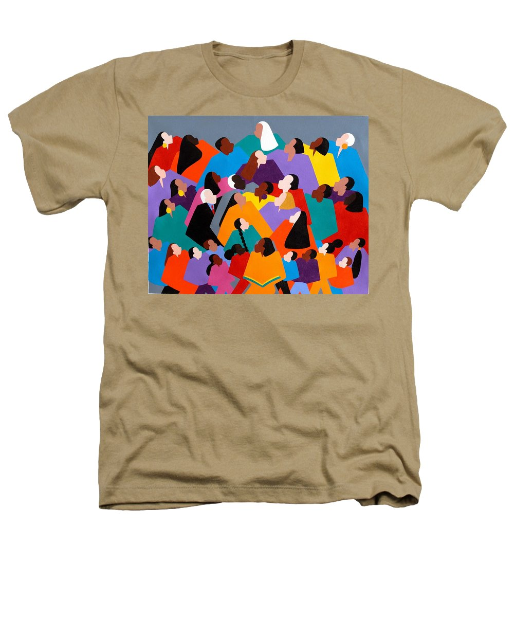 Figurative Heathers T-Shirt featuring the painting Brilliance by Synthia SAINT JAMES