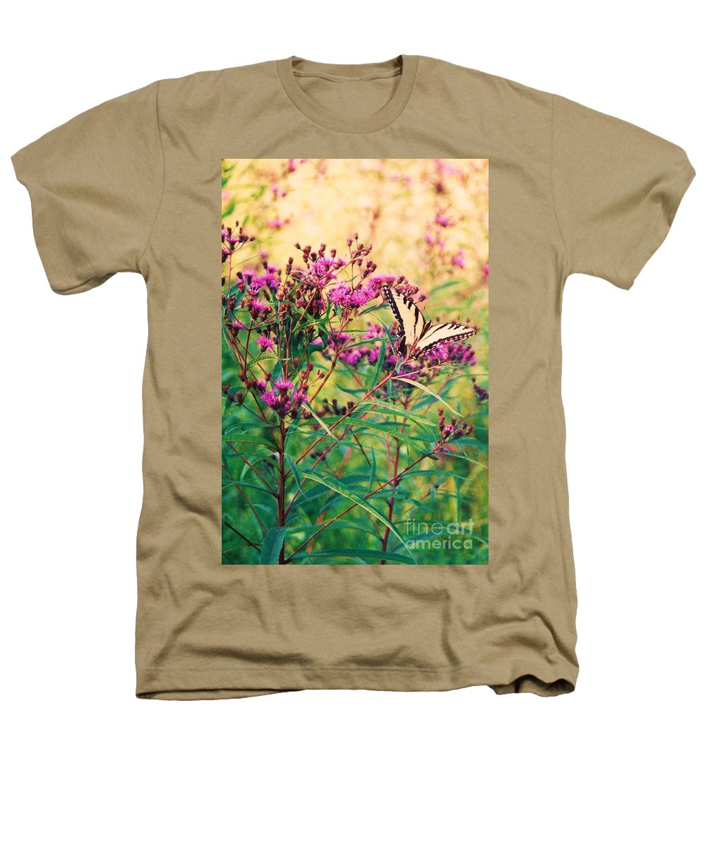 Floral Heathers T-Shirt featuring the painting Butterfly Wildflower by Eric Schiabor