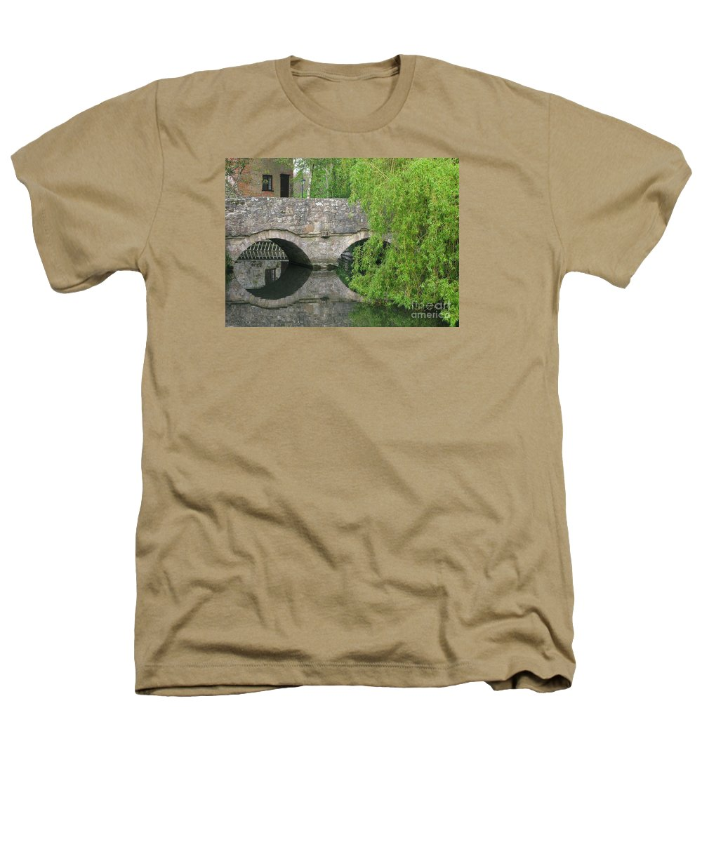 England Heathers T-Shirt featuring the photograph By The Old Mill Stream by Ann Horn