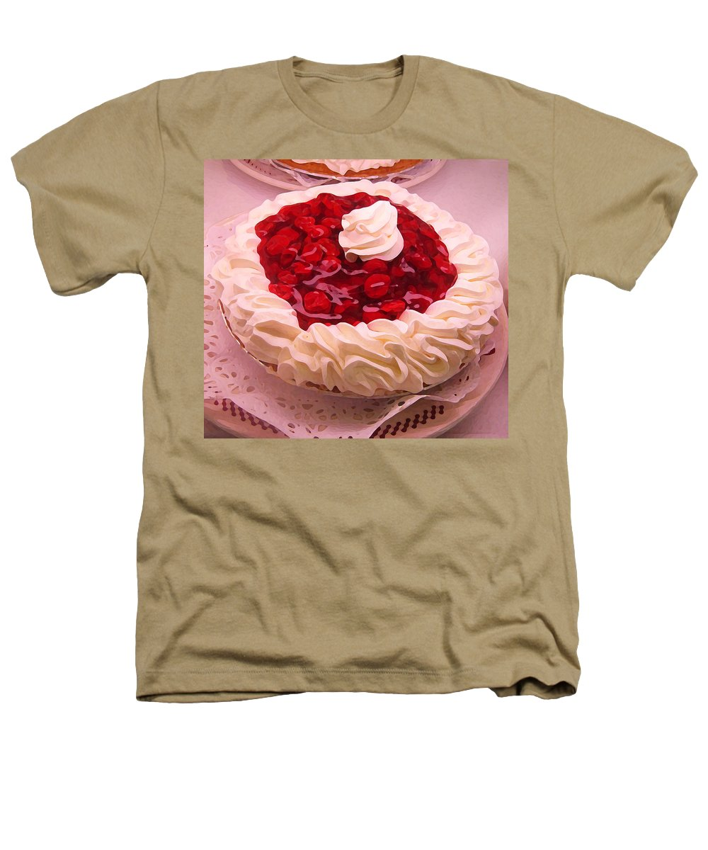 Still Life Heathers T-Shirt featuring the painting Cherry Pie With Whip Cream by Amy Vangsgard