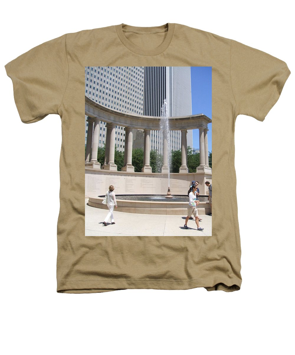 Chicago Heathers T-Shirt featuring the photograph Chicago Tourism by Minding My Visions by Adri and Ray