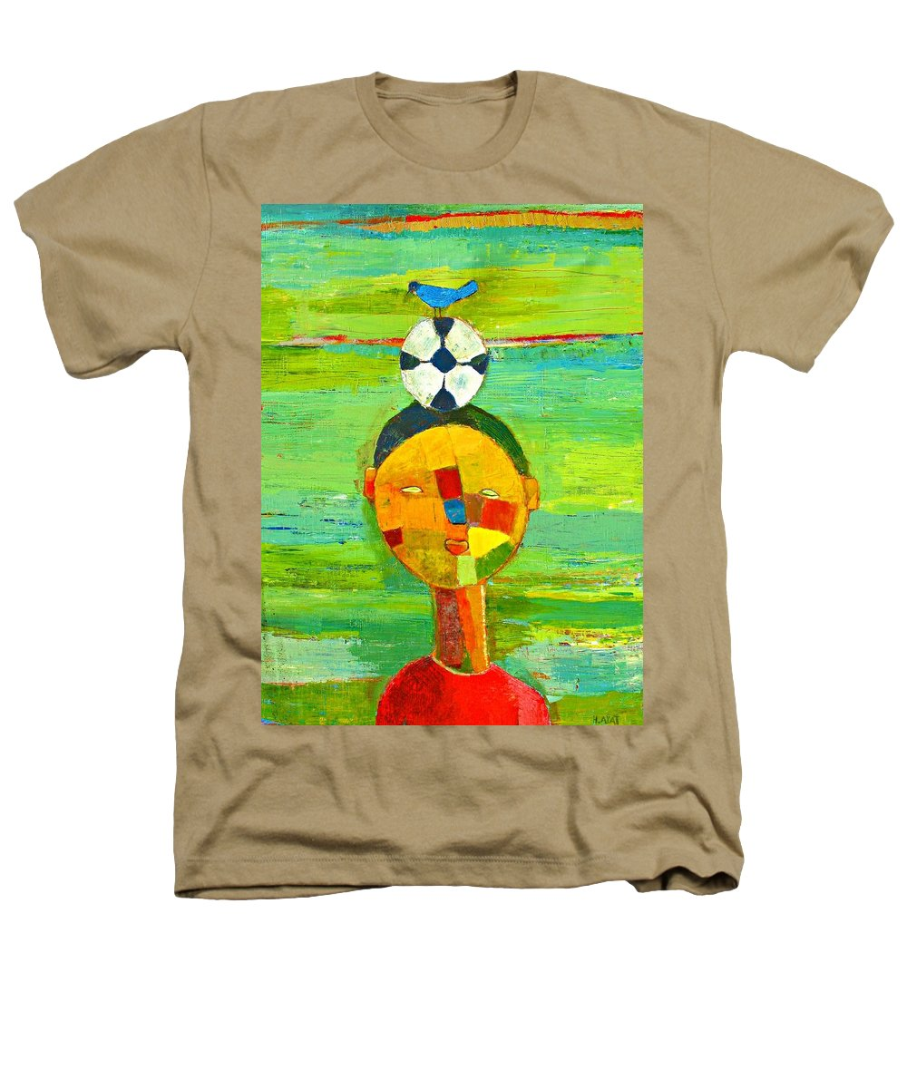 Childhood Heathers T-Shirt featuring the painting Childhood Memories by Habib Ayat