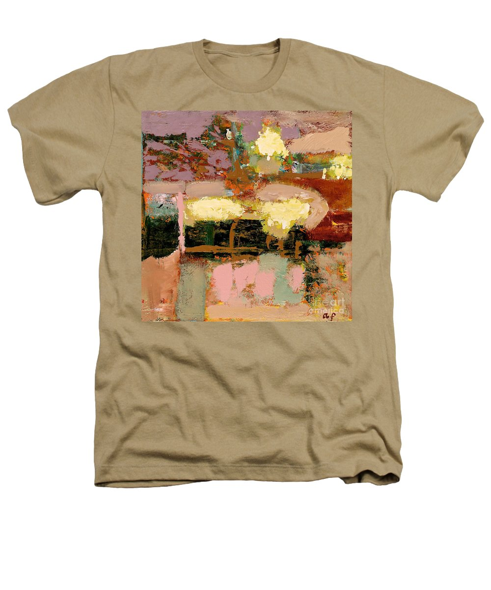 Landscape Heathers T-Shirt featuring the painting Chopped Liver by Allan P Friedlander