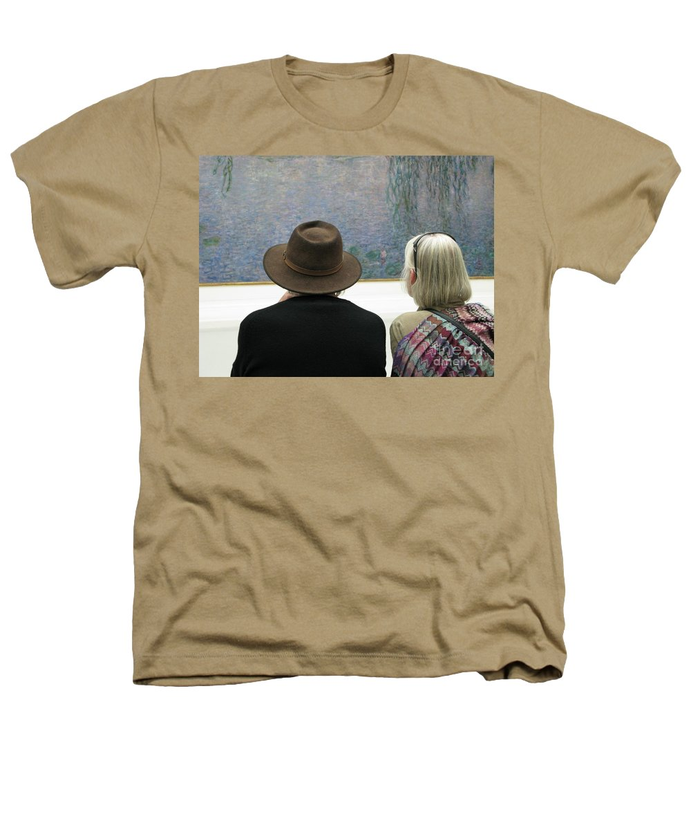 People Heathers T-Shirt featuring the photograph Contemplating Art by Ann Horn