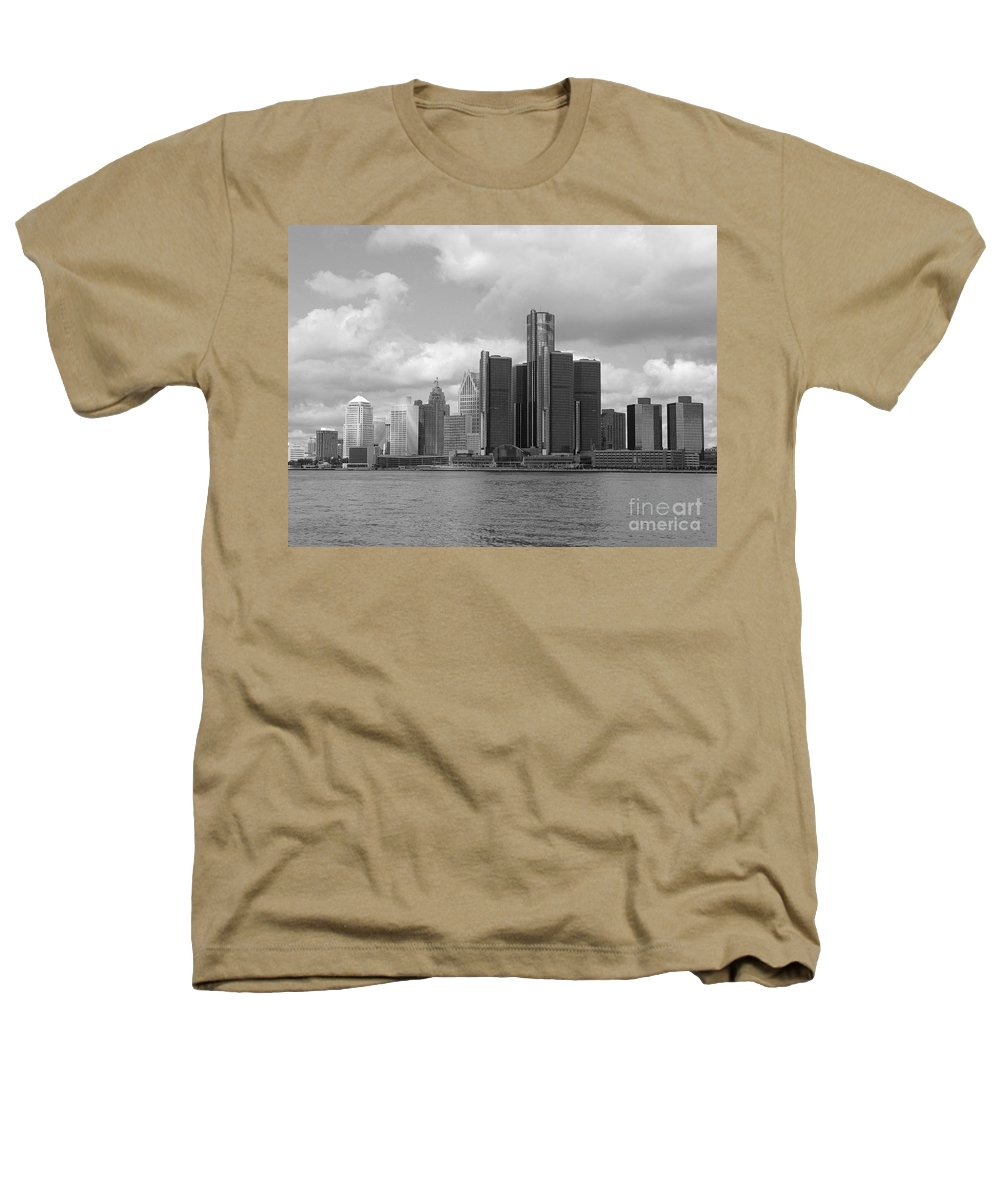 Detroit Heathers T-Shirt featuring the photograph Detroit Skyscape by Ann Horn