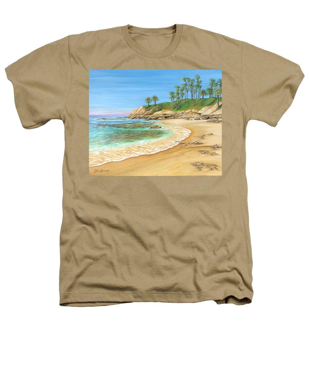 Beach Heathers T-Shirt featuring the painting Early Morning Laguna by Jane Girardot