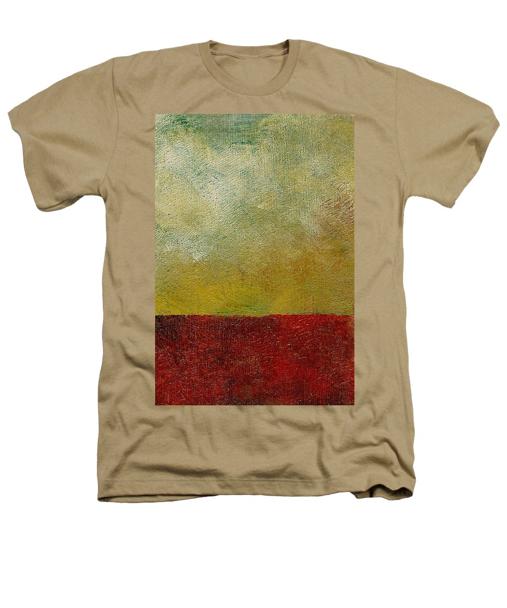 Abstract Landscape Heathers T-Shirt featuring the painting Earth Study One by Michelle Calkins
