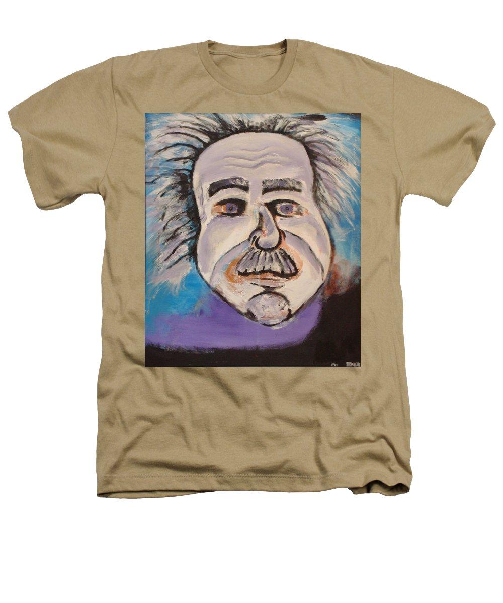Rick Huotari Heathers T-Shirt featuring the painting Einstein by Rick Huotari
