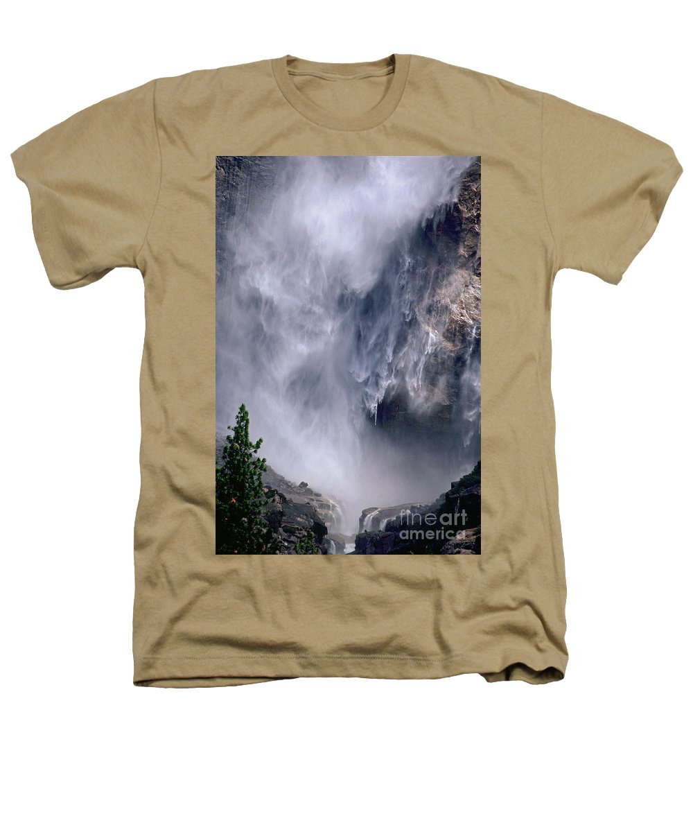 Waterfall Heathers T-Shirt featuring the photograph Falling Water by Kathy McClure