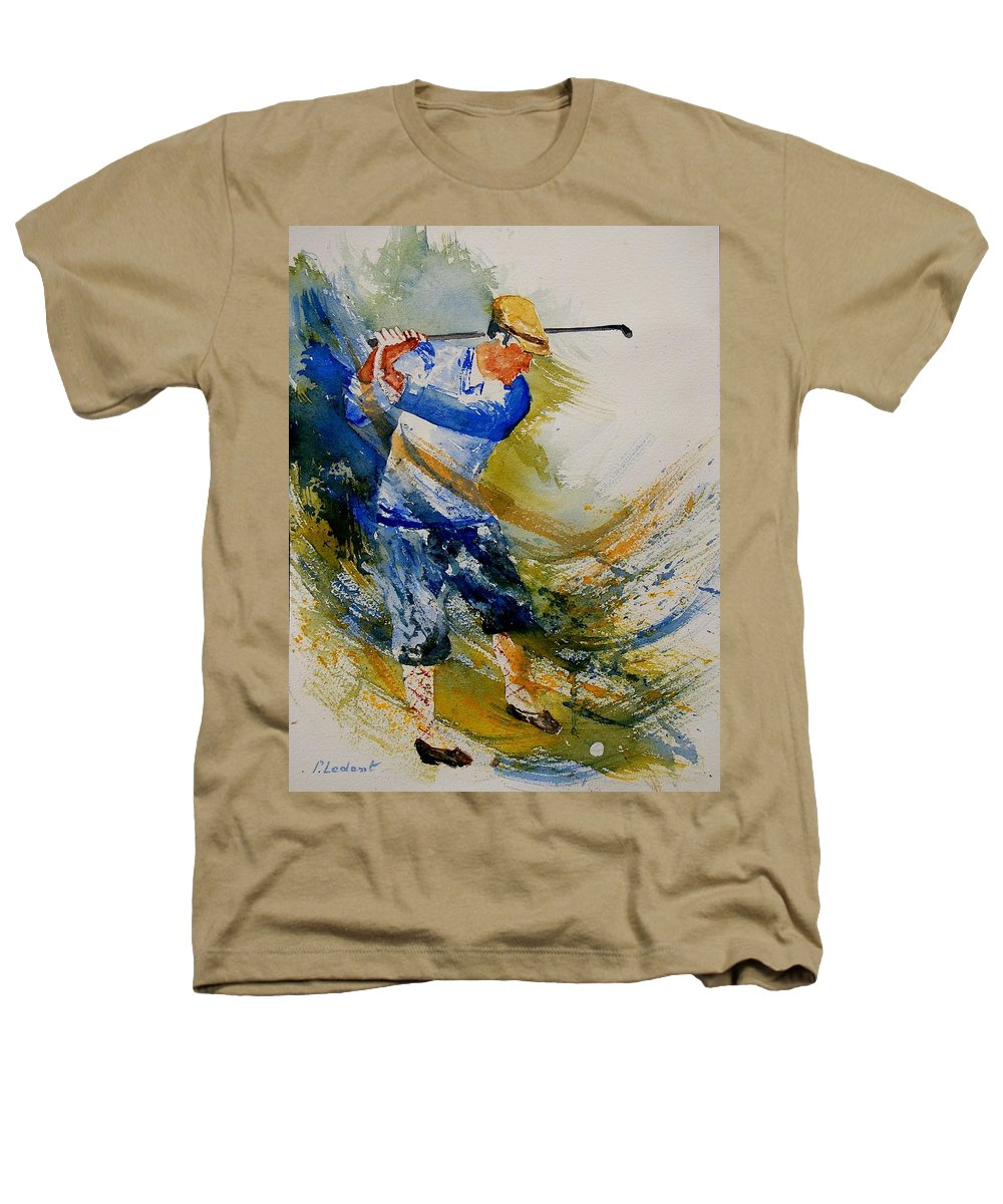 Golf Heathers T-Shirt featuring the painting Golf Player by Pol Ledent