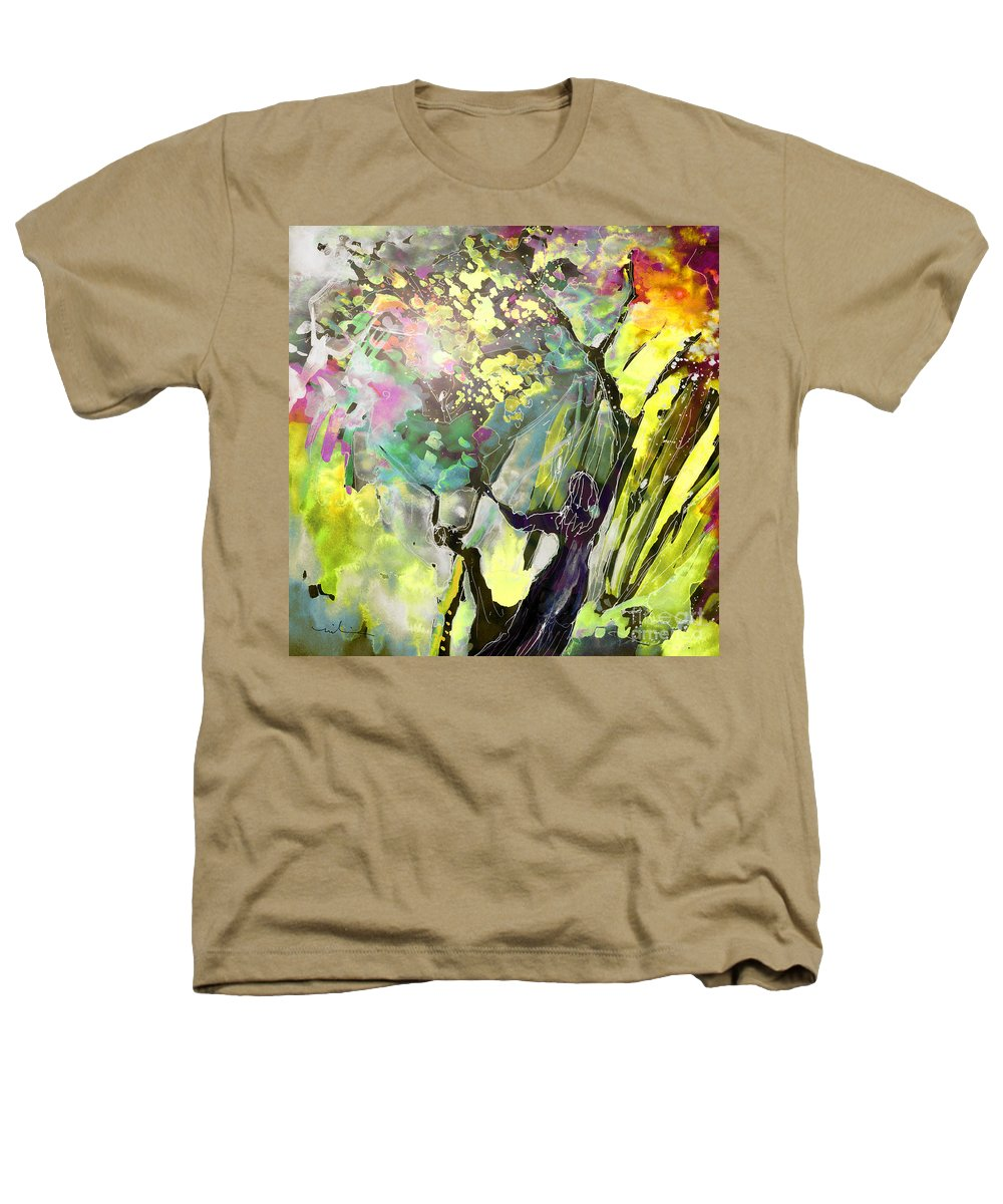 Fantasy Heathers T-Shirt featuring the painting Grace Under Pressure by Miki De Goodaboom