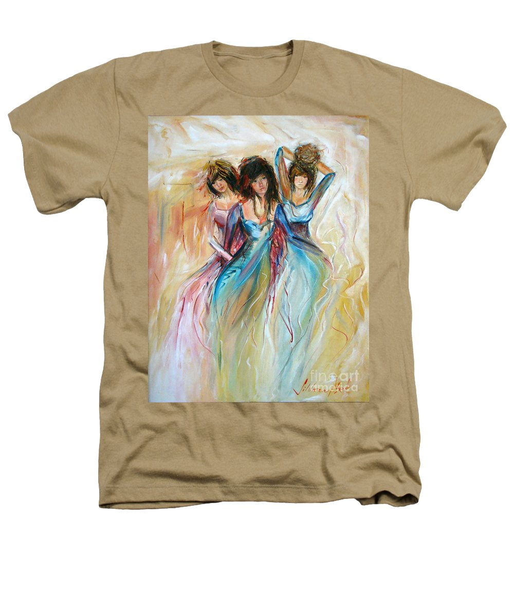 Contemporary Art Heathers T-Shirt featuring the painting Having Fun by Silvana Abel