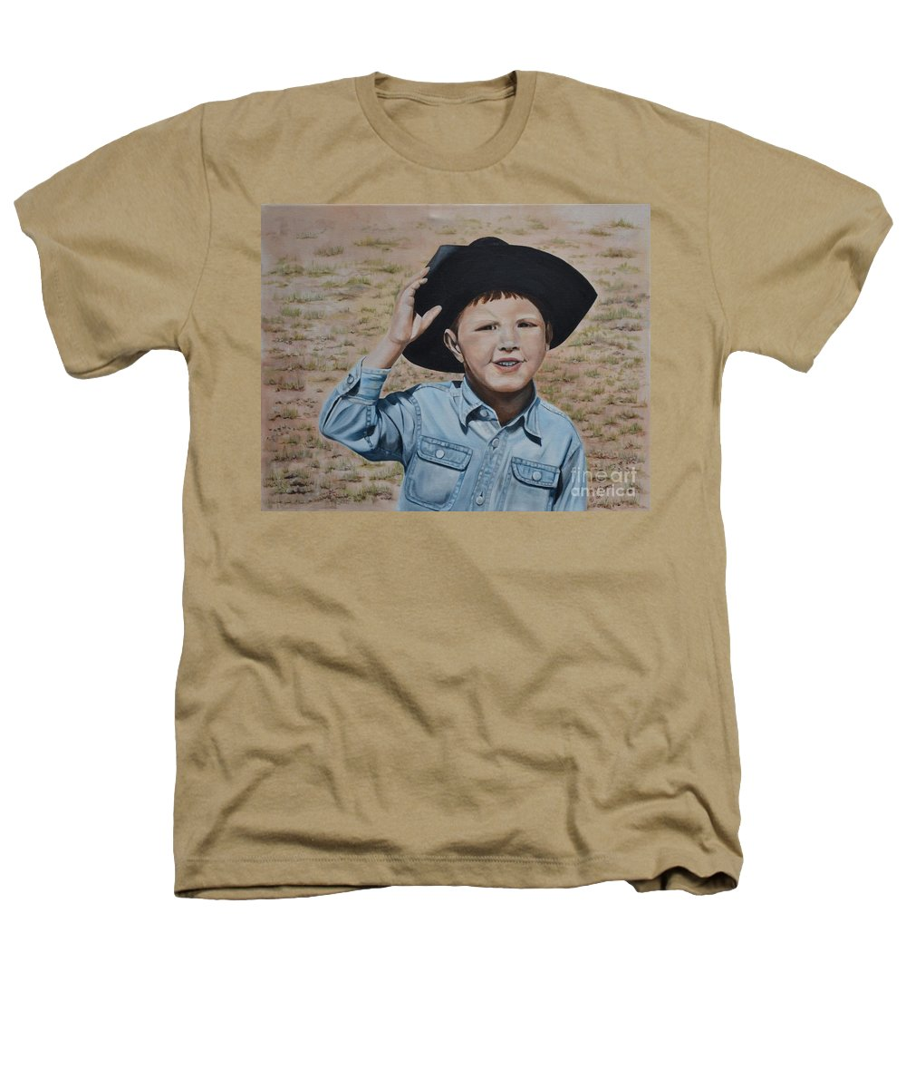 Usa Heathers T-Shirt featuring the painting Howdy Ma'am by Mary Rogers