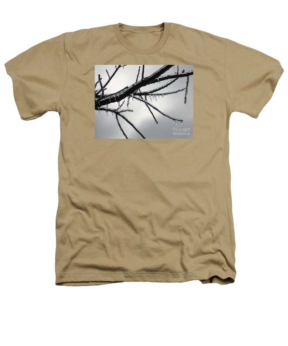 Winter Heathers T-Shirt featuring the photograph Iced Tree by Ann Horn