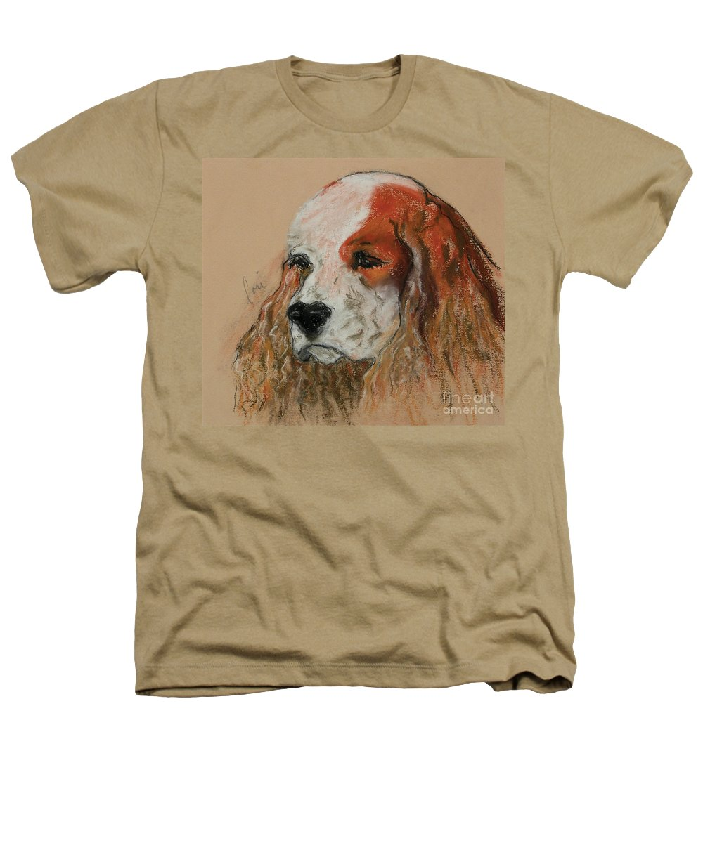 Dog Heathers T-Shirt featuring the pastel Idle Thoughts by Cori Solomon