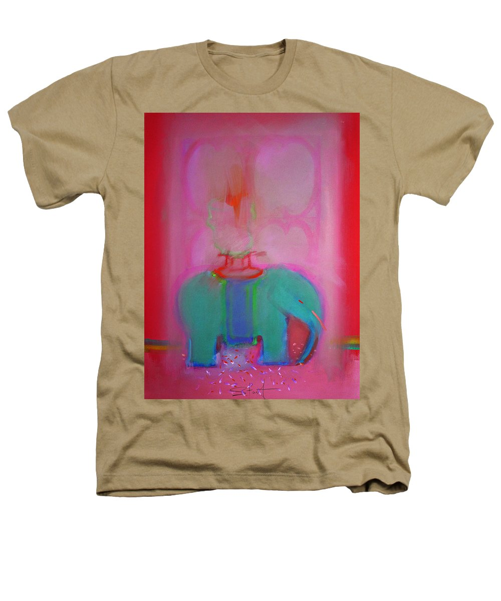 Elephant Heathers T-Shirt featuring the painting Indian Elephant by Charles Stuart