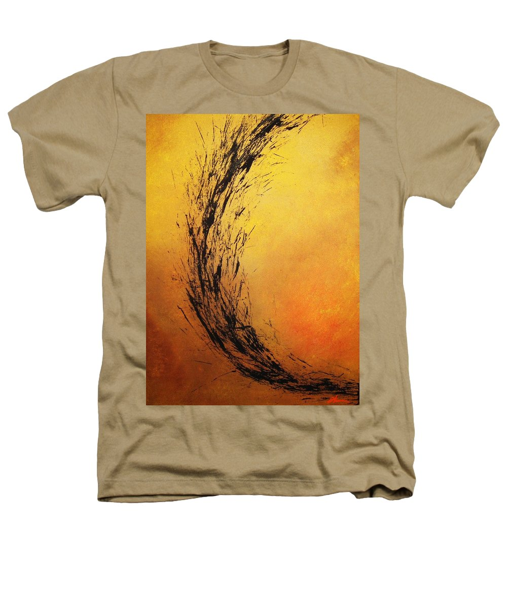 Abstract Heathers T-Shirt featuring the painting Instinct by Todd Hoover