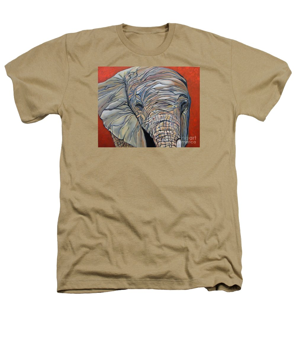 Elephant Heathers T-Shirt featuring the painting Lazy Boy by Aimee Vance