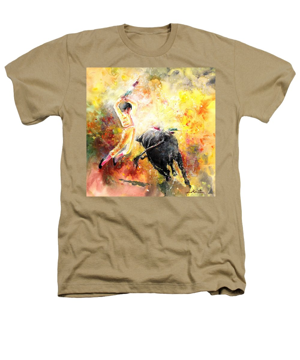 Animals Heathers T-Shirt featuring the painting Lightning Strikes by Miki De Goodaboom