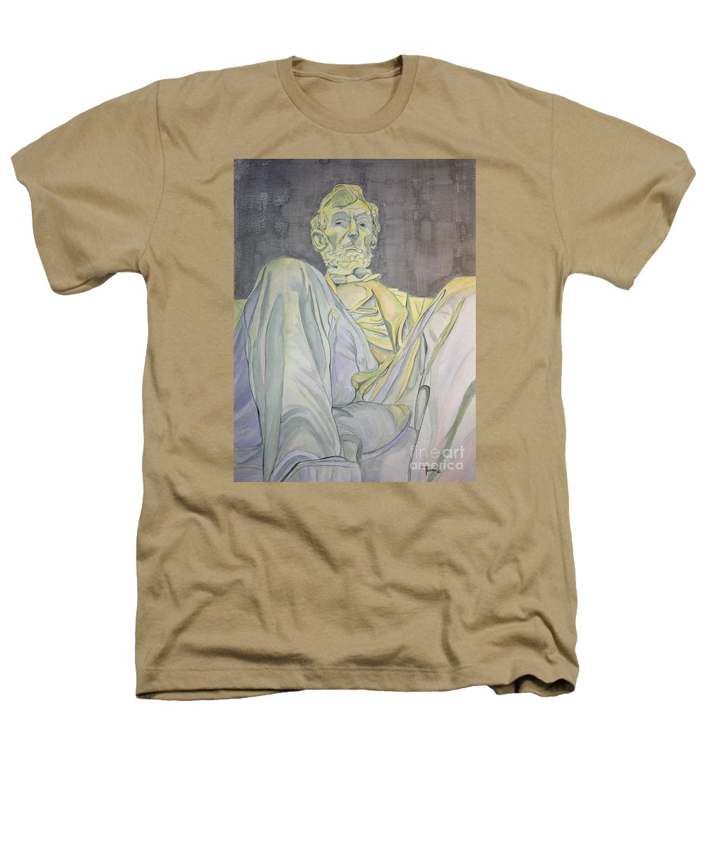 Presidents Heathers T-Shirt featuring the painting Lincoln by Regan J Smith