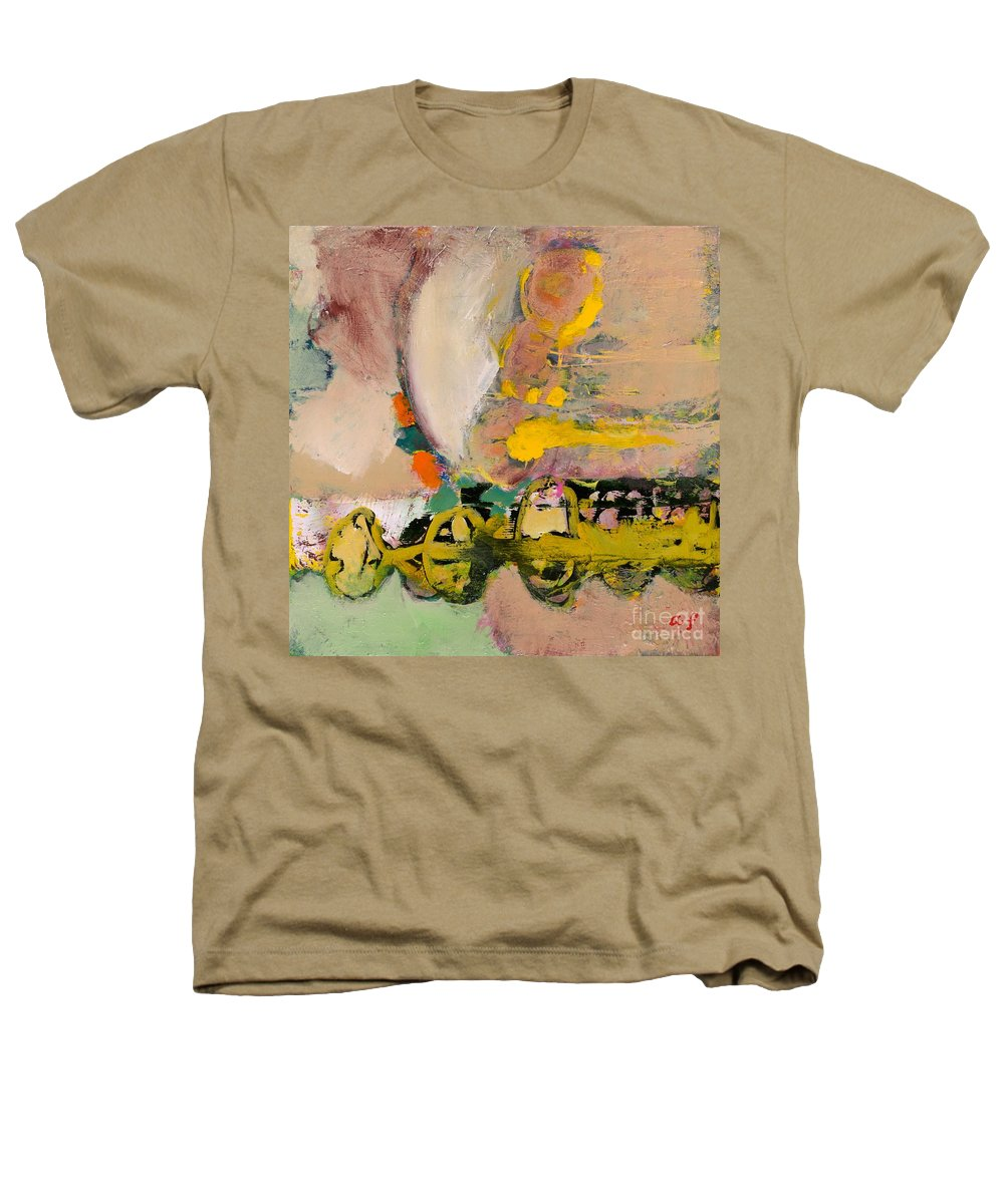Landscape Heathers T-Shirt featuring the painting Locomotion by Allan P Friedlander