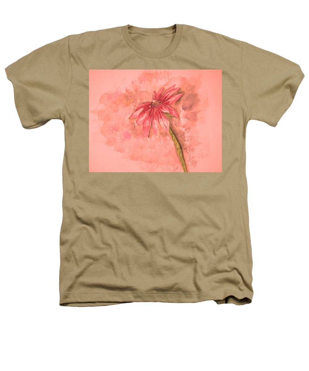 Watercolor Heathers T-Shirt featuring the painting Melancholoy by Crystal Hubbard