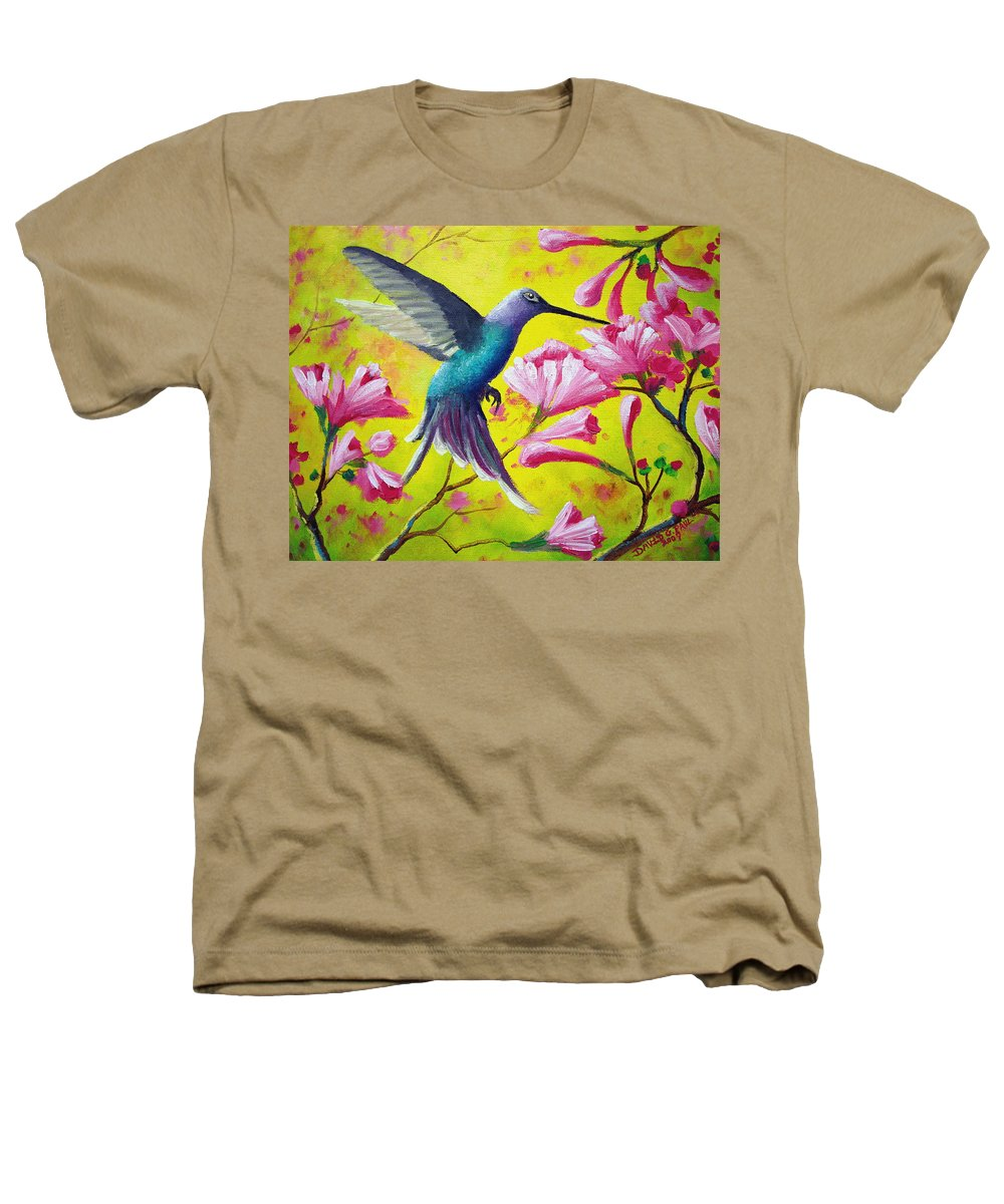 Hummingbird Heathers T-Shirt featuring the painting Morning Sweets by David G Paul