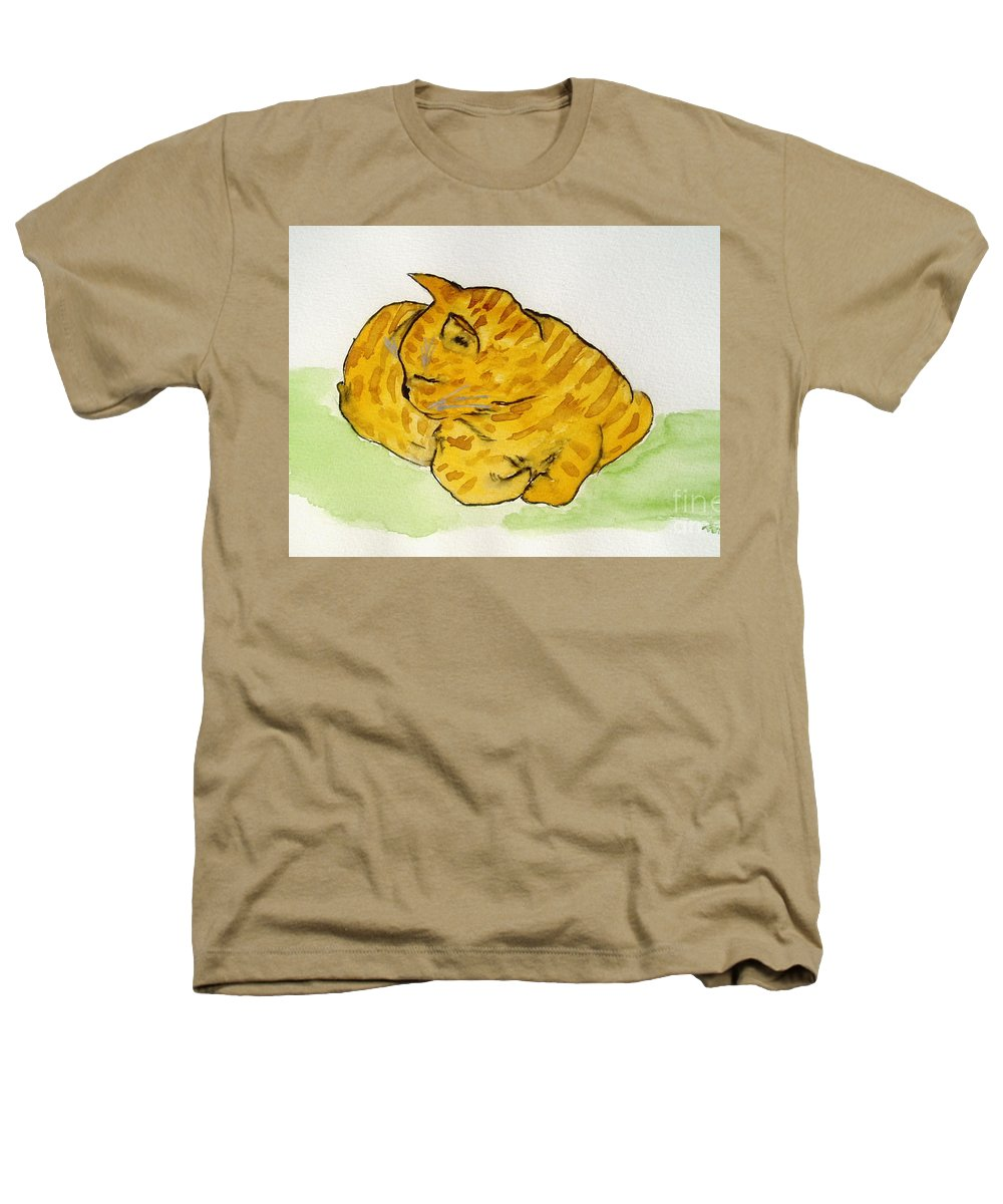 Cat Painting Heathers T-Shirt featuring the painting Mr. Yellow by Reina Resto
