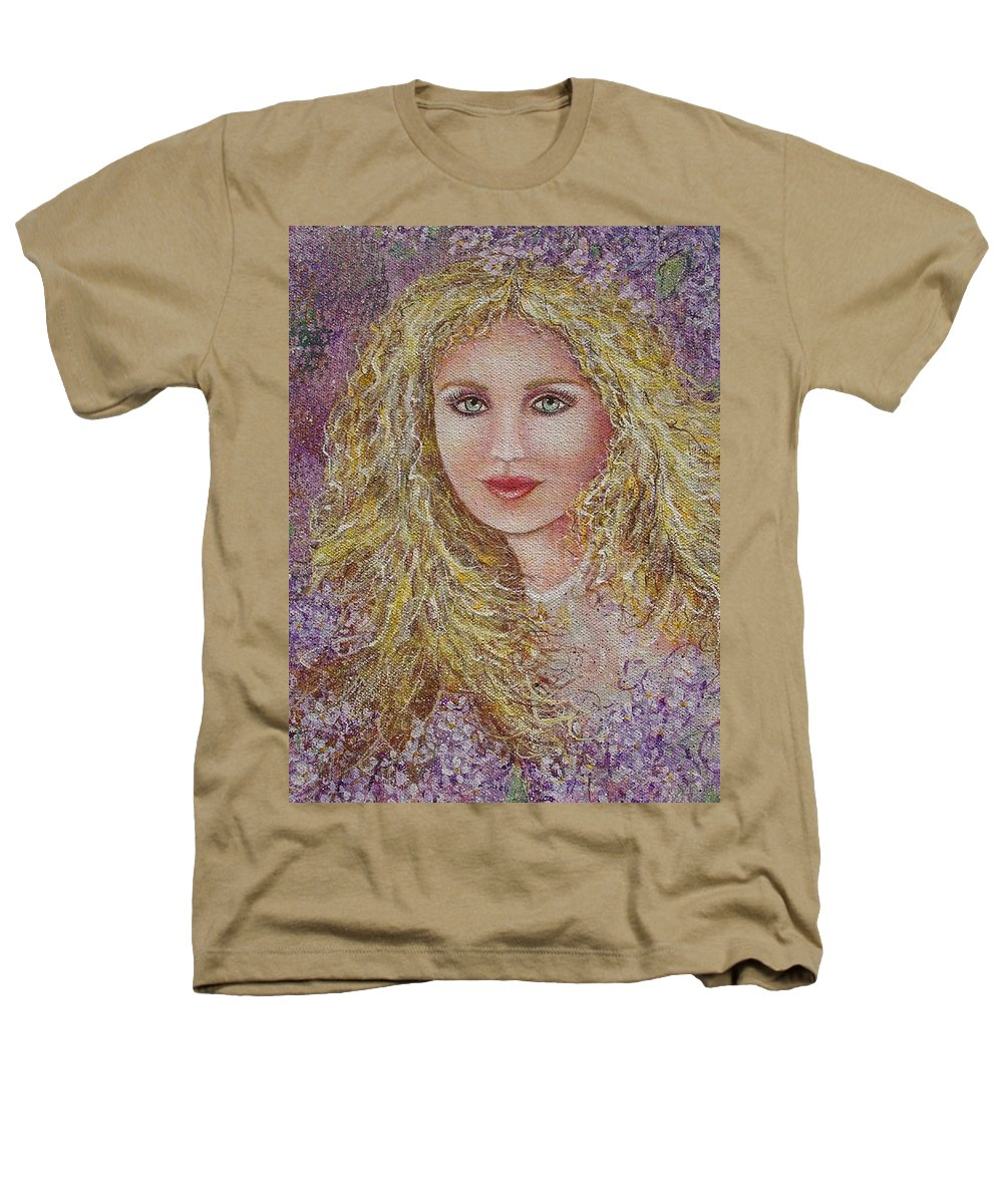 Portrait Heathers T-Shirt featuring the painting Natalie In Lilacs by Natalie Holland