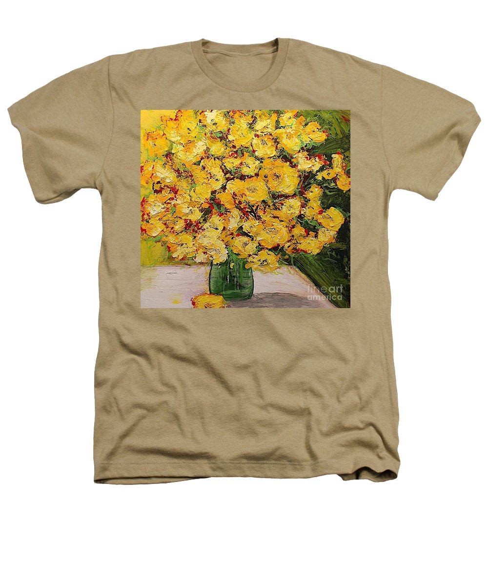 Landscape Heathers T-Shirt featuring the painting New Beginnings by Allan P Friedlander