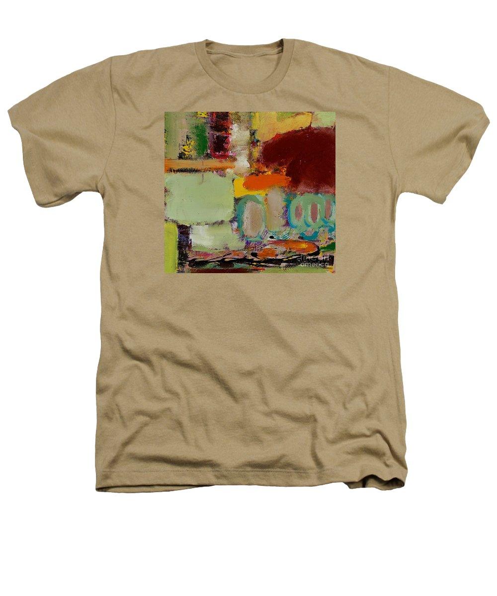Landscape Heathers T-Shirt featuring the painting Over There by Allan P Friedlander